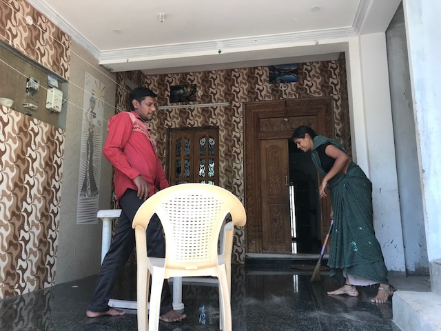 Sudha-Community residents volunteer their porch for patient registration.jpg